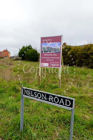 The site of the new care home which is due to be built on Nelson