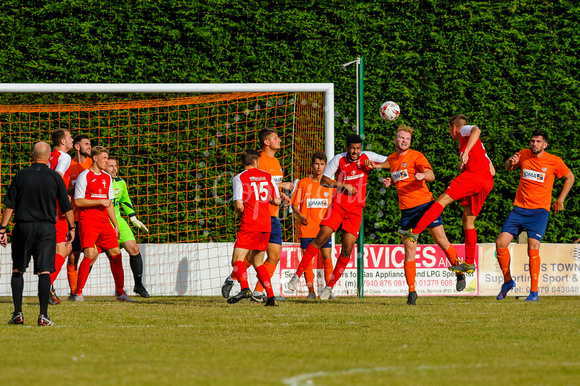 Football action from Diss Town FC vs Fakenham Town FC