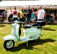 Norfolk Scooter Rally taking place at the Tibenham Greyhound.